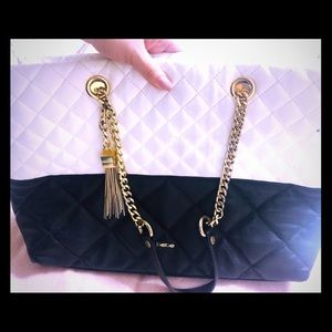 Bebe Handbag black/white/gold